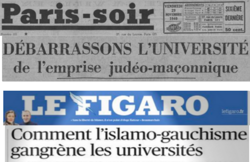 Paris-Soir 1940/11/30 VS Le Figaro 2021/02/11